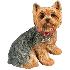 Life Size Sculptures Yorkshire Terrier Figurine