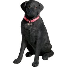 Life Size Large Labrador Retriever Sculpture in Black