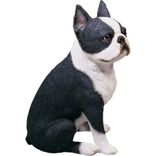 <strong>Sandicast</strong> Original Size Sculptures Boston Terrier Figurine