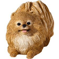 Small Size Sculptures Pomeranian Figurine