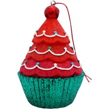 Tree Top Cupcake Christmas Tree Ornament