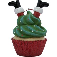 Santa Cupcake Christmas Tree Ornament