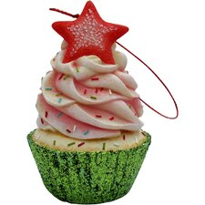 Star Top Cupcake Christmas Tree Ornament
