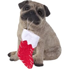 Pug Christmas Tree Ornament