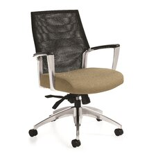 Global Accord Mesh Mid Back Chair with Arms
