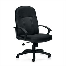 <strong>Offices To Go</strong> High-Back Leather Managerial Chair