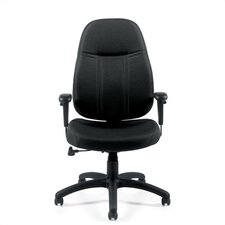 High-Back Fabric Office Chair with Arms