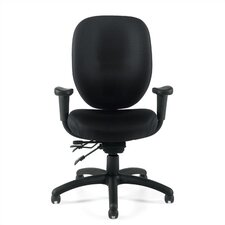 Mid-Back Multifunction Office Chair with Arms