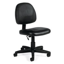 Low-Back Leather Pneumatic Task Chair