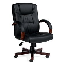 <strong>Offices To Go</strong> Luxhide High-Back Leather Executive Chair