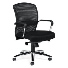 High-Back Mesh Tilter Executive Chair with Fixed Height Molded Arms