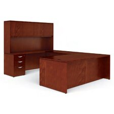 <strong>Offices To Go</strong> Ventnor U Shape Desk Office Suite with Hutch