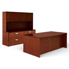 <strong>Offices To Go</strong> Ventnor Standard Bow Front Desk Office Suite with Hutch