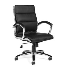 High-Back Luxhide Segmented Cushion Office Chair