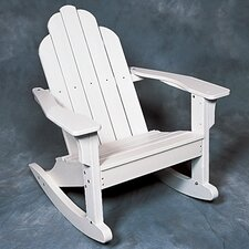 <strong>Seaside Casual</strong> Classic Adirondack Rocking Chair - EnviroWood