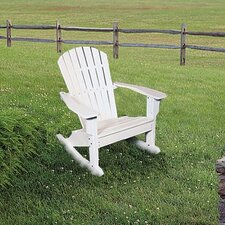 <strong>Seaside Casual</strong> Adirondack Shell Back Rocking Chair - EnviroWood