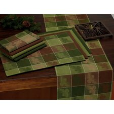 Pinecone Check Jacquard Table Runner