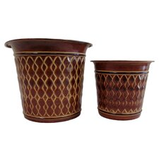 2 Piece Round Planter Set