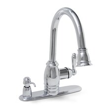 Sonoma One Handle Centerset Pull-Down Kitchen Faucet with Matching Soap Dispenser