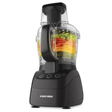 <strong>Black & Decker</strong> 500 Watt Wide-Mouth Food Processor in Black