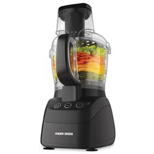 500 Watt Wide-Mouth Food Processor in Black