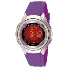 Midsize Digital Multi-Function Watch in Purple