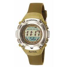 Midsize Digital Watch in Brown Plastic