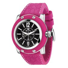 Women's Miami Silicon Watch with Black Dial