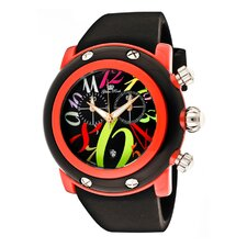 Unisex Miami Beach Chronograph Polyurethane Round Watch