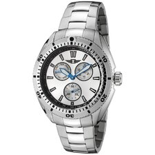 Men's Stainless Steel Watch with Silver Dial