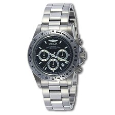 Men's speedway Stainless Steel Watch with Black Dial