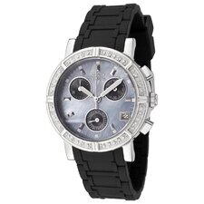 Women's Wildflower Chronograph Diamond Watch in Black