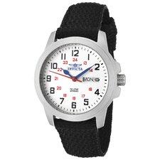 Women's Specialty White Dial Watch in Black Nylon