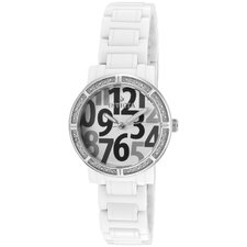 Women's Ceramics Round Watch