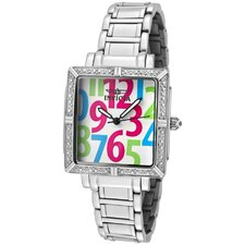 Women's Wildflower Diamond Dial Square Watch