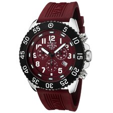 Men's Pro Diver Chronograph Polyurethane Round Watch