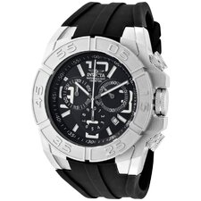 Men's Specialty Chronograph Polyurethane Round Watch