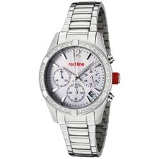 Women's Wind Chronograph Diamond Stainless Steel Watch