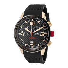 Men's Tech Chronograph Silicone Round Watch