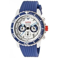 Men's Piston Chronograph Silicone Round Watch
