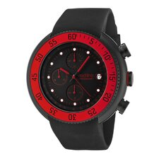 Men's Driver Chronograph Silicone Round Watch
