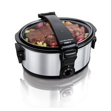 <strong>Hamilton Beach</strong> Stay or Go 6 Quart Portable Slow Cooker