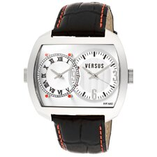 Unisex' s Easy Dual Time Rectangular Watch