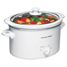 3 Quart Slow Cooker in White