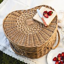 <strong>Picnic Time</strong> Heart Picnic Basket