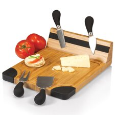 <strong>Picnic Time</strong> Artisan Cutting Board with Tool