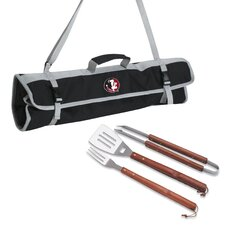NCAA 3 Piece BBQ Tool Set with Tote