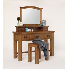 Brooklyn Rustic Oak Dressing Table Set