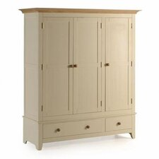Dulwich Painted Ash and Pine 2 Drawer Wardrobe