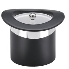 Sophisticates Top Hats Ice Bucket with Chrome Band in Black